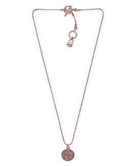 Michael Kors Pave Disc Necklace