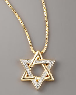 John Hardy Diamond Star of David Pendant Necklace, Gold