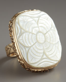 Stephen Dweck Carved Mother-of-Pearl Ring
