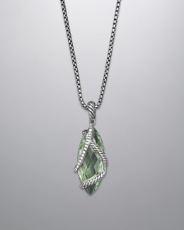 David Yurman Cable Wrap Pendant with Prasiolite and Diamonds
