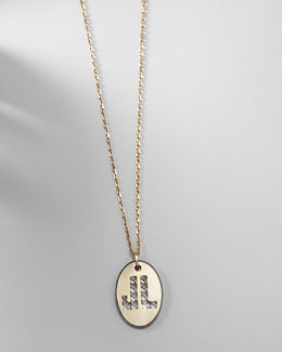 Lanvin Long Logo-Pendant Necklace