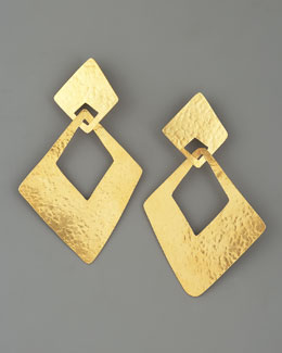 Herve Van Der Straeten Angular Clip Earrings