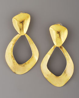 Herve Van Der Straeten Open-Link Clip Earrings