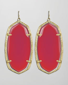 Kendra Scott Danielle Earrings, Pink Agate