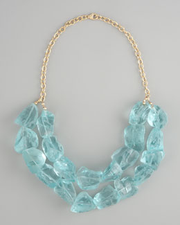 Devon Leigh Aqua Quartz Necklace