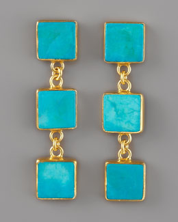 Dina Mackney Triple-Drop Turquoise Earrings