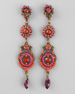 Aldazabal Three-Drop Earrings