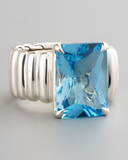 John Hardy Wide Band Ring, Blue Topaz