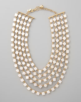 kate spade new york pearly cove bib necklace