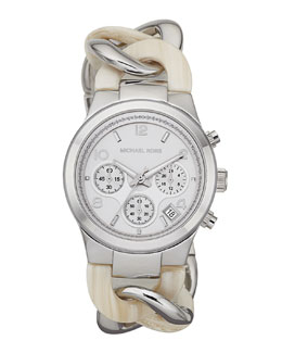 Michael Kors  Runway Twist Watch, Safari Print