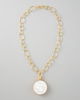 Dina Mackney Mother-of-Pearl Pendant Necklace