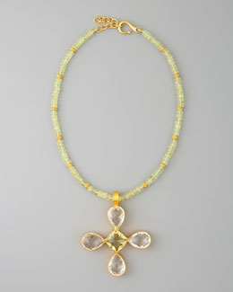 Dina Mackney Lemon Citrine Pendant Necklace