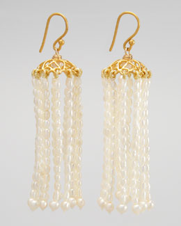 Dina Mackney Pearl Chandelier Earrings