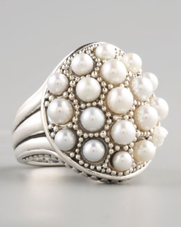 Lagos Luna Pearl Dome Ring