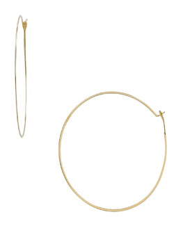 Michael Kors  Whisper Medium Hoop Earrings, Golden
