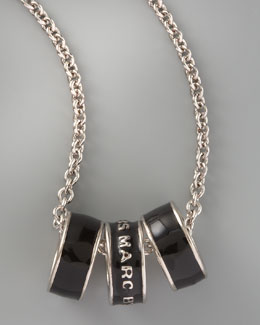 Marc By Marc Jacobs Sweetie Rings Necklace, Black
