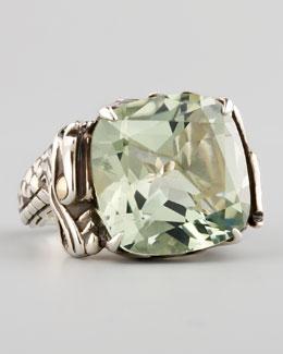 John Hardy Naga Batu Ring, Green Amethyst