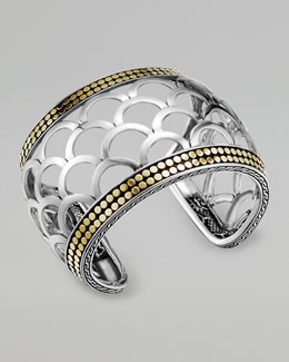 John Hardy Naga Mixed-Metal Cuff, Wide