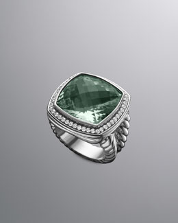 David Yurman Moonlight Ice Ring, Prasiolite, 17mm