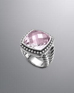 David Yurman Moonlight Ice Ring, Lavender Amethyst, 17mm
