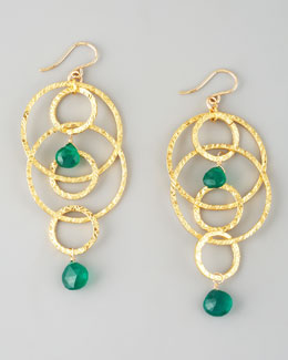 Devon Leigh Green Onyx Dangle Earrings