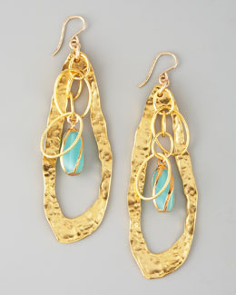 Devon Leigh Twisted Chalcedony Drop Earrings