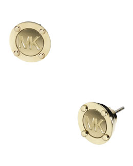Michael Kors  Astor Stud Logo Earrings, Golden