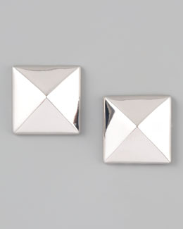 Lisa Freede Pyramid Stud Earrings