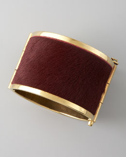 McQ Alexander McQueen Pony Hair Cuff, Red