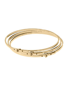 Michael Kors  Skinny Buckle Bangles, Golden
