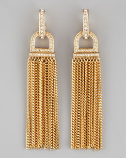 Rachel Zoe Rhinestone Tassel Earrings