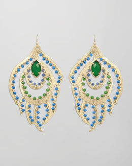 Kendra Scott Paula Feather Earrings, Cool