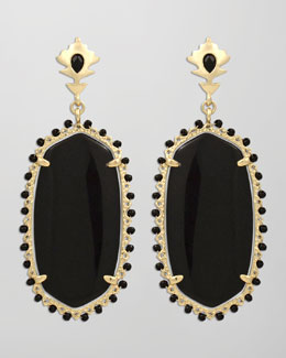 Kendra Scott Dalton Earrings, Black Onyx