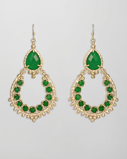 Kendra Scott Gaia Earrings, Green