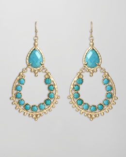 Kendra Scott Multi Stone Drop-Hoop Earrings