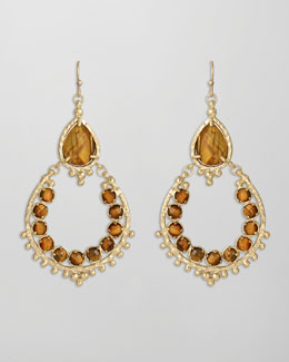 Kendra Scott Gaia Earrings, Tiger's Eye