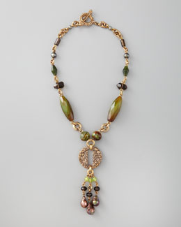 Stephen Dweck Green Agate Drop Necklace
