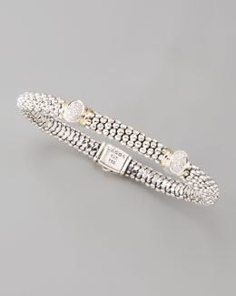 Lagos 2-Station Pave-Diamond Bracelet