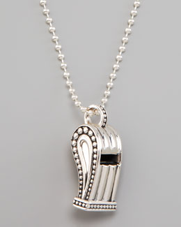 Lagos Whistle Pendant Necklace