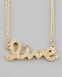 Sydney Evan Diamond Live Necklace, Yellow Gold