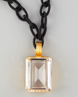 Dina Mackney Rock Crystal Pendant Necklace