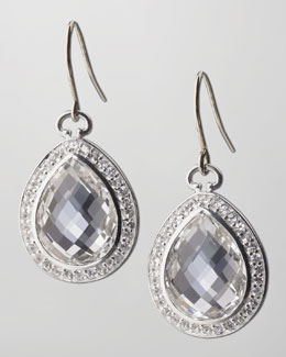 Monica Rich Kosann Rock Crystal Teardrop Earrings