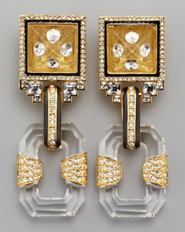 Rachel Zoe Glass Drop Earrings