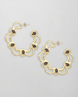 Kendra Scott Scalloped Scroll Hoop Earrings