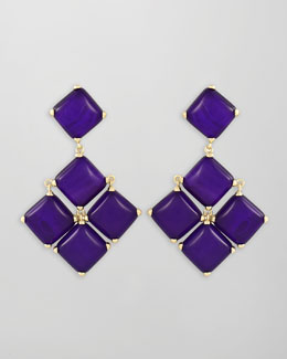 Kendra Scott Cushion Cabochon Earrings, Purple
