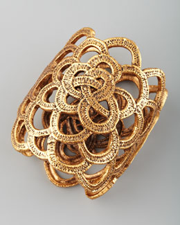 Oscar de la Renta Looped Lace Cluster Cuff, Golden