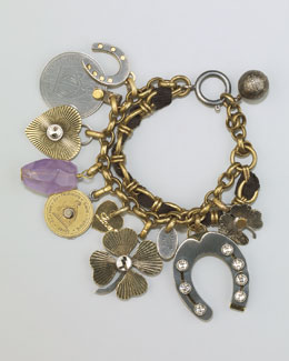 Lanvin Mixed-Metal Charm Bracelet
