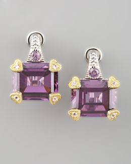 Judith Ripka Candy Earrings, Purple