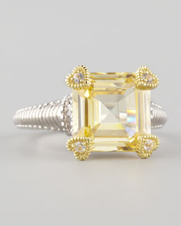 Judith Ripka Small Candy Ring, Canary
