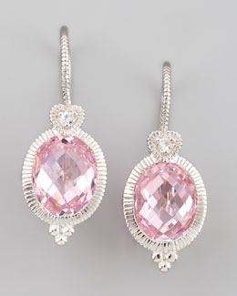 Judith Ripka Pink Drop Earrings